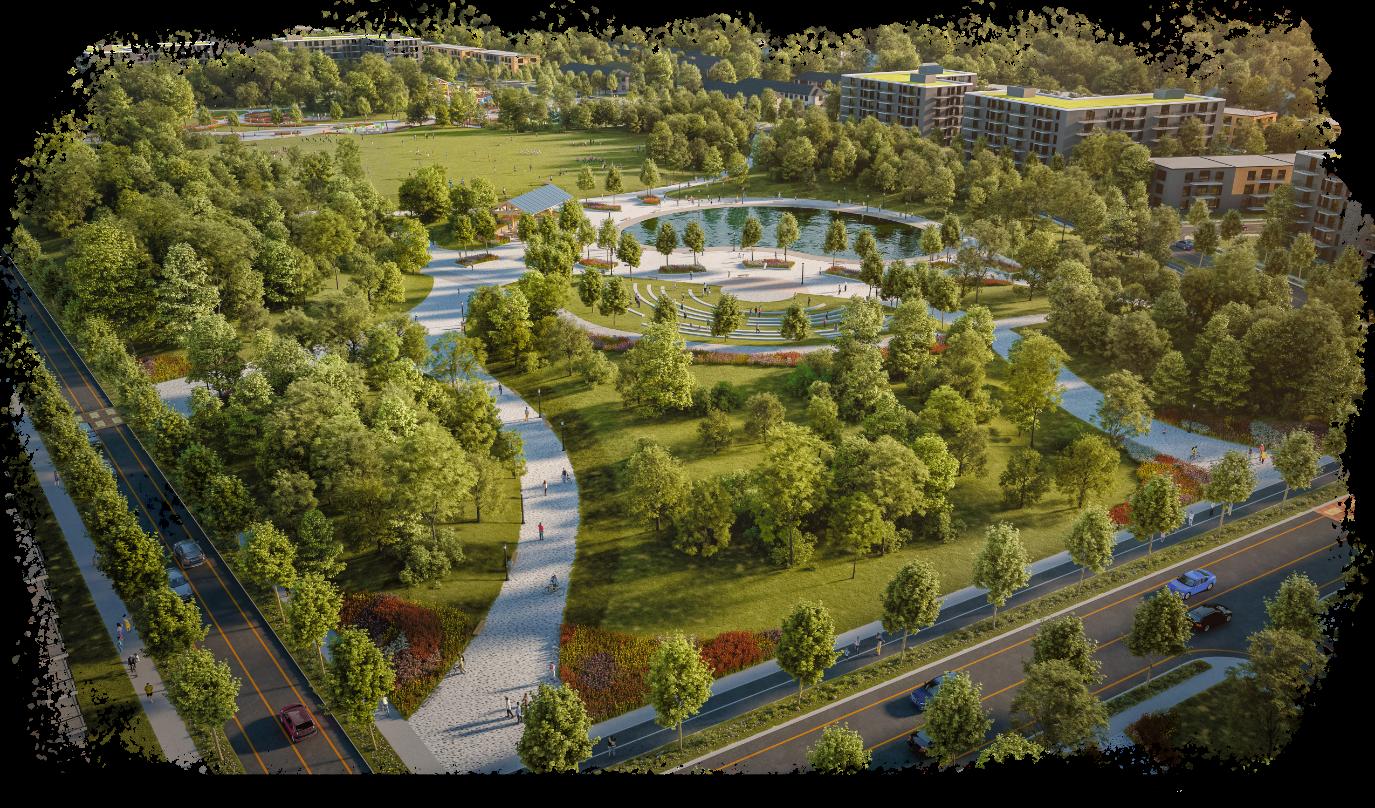 Image du parc du Quartier Melrose
